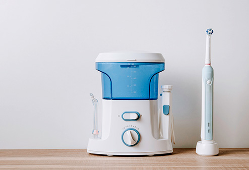 electric toothbrush and water pick